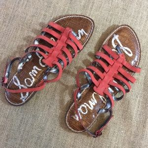 Sam Edelman gladiator suede coral sandals size 8